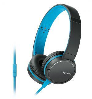 SONY sluchátka MDR-ZX660AP, handsfree, modré