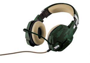 náhlavní sada TRUST GXT 322C Gaming Headset - green camouflage
