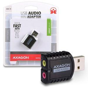 AXAGON USB2.0 - stereo audio MINI adapter