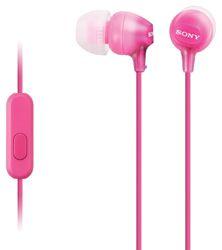 SONY sluchátka MDR-EX15AP, handsfree, růžové