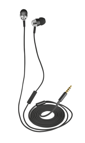 TRUST Crystal In-ear Headphones with microphone & remote - black