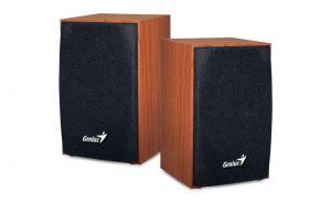 GENIUS reproduktory SP-HF160, 2.0, 4W, ovládání hlasitosti, hnědé, dřevěné, USB+3.5mm kone