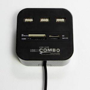 USB (2.0) hub 4-port, C001, černá