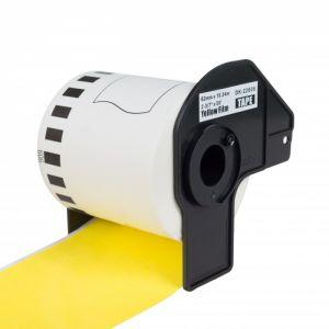 PEKRO kompatibilní etikety s BROTHER DK-22606, žlutá papírová role 62 x 15,24m
