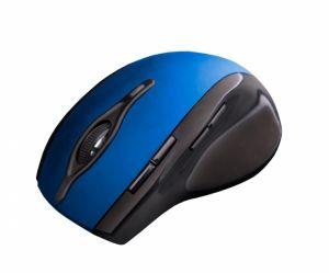 C-TECH myš WLM-11, černo-modrá, bezdrátová, 2400DPI, 8 tlačítek, programovatelná, USB nano