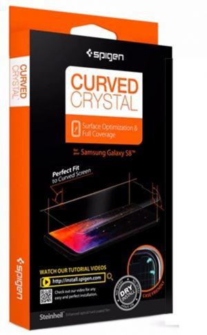 SPIGEN Film Curved Crystal - SAMSUNG Galaxy S8 ochranná folie čirá, 2 kusy
