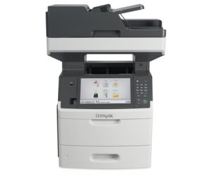 """LEXMARK MX718De mono laser MFP, 66 ppm, síť, duplex, fax, DADF, 10"""" dotykový LCD"""