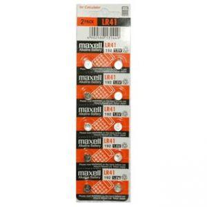 Baterie alkalická, LR41, AG3, 1.5V, Maxell, blistr, 10-pack, cena za 1 ks baterie