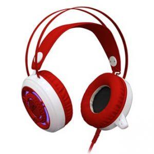 REDRAGON SAPPHIRE herní sluchátka s mikrofonem, s regulací hlasitosti, bílá, 3.5mm jack +