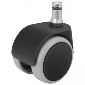 Kolečka pro herní křesla pogumované černé průměr čepu: 11mm, v balení 5ks