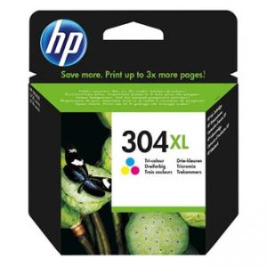 HP originální ink N9K07AE, HP 304XL, Tri-color, 300str., HP Deskjet 3720,3721,3723,3730,37