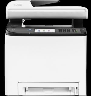RICOH SP C262SFNw 21 PPM, Color MFC with print, copy, scan, fax, touchscreen display
