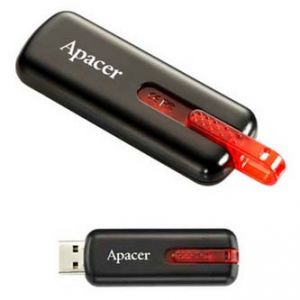 APACER USB Flash Drive, 2.0, 32GB, AH326 32GB Flash Drive, černý, AP32GAH326B-1