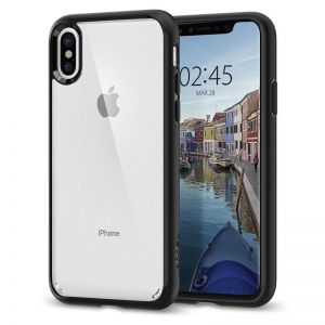 SPIGEN Ultra Hybrid, matte black - pro APPLE iPhone X