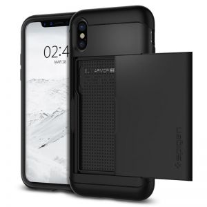 SPIGEN Slim ARMOR CS, black - pro APPLE iPhone X