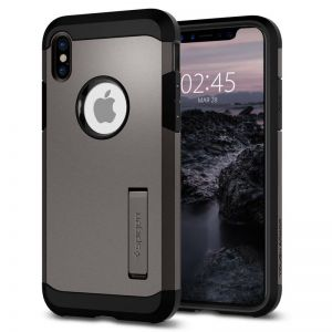 SPIGEN Tough ARMOR, gunmetal - pro APPLE iPhone X