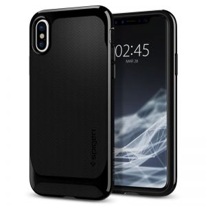 SPIGEN Neo Hybrid, shiny black - pro APPLE iPhone X