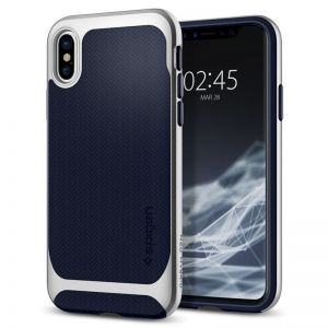 SPIGEN Neo Hybrid, silver - pro APPLE iPhone X