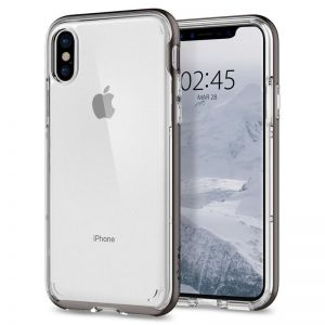 SPIGEN Neo Hybrid Crystal, gunmetal - pro APPLE iPhone X