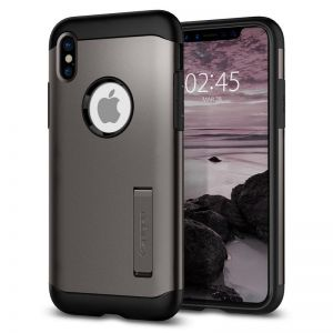 SPIGEN Slim ARMOR, gunmetal - pro APPLE iPhone X
