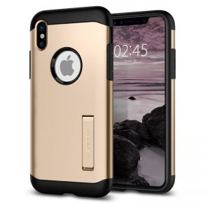SPIGEN Slim ARMOR, gold - pro APPLE iPhone X