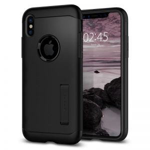 SPIGEN Slim ARMOR, black - pro APPLE iPhone X