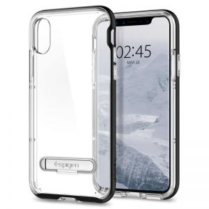 SPIGEN Crystal Hybrid, black - pro APPLE iPhone X