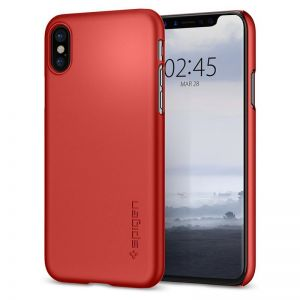 SPIGEN Thin Fit, metallic red - pro APPLE iPhone X