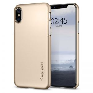 SPIGEN Thin Fit, gold - pro APPLE iPhone X
