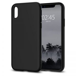 SPIGEN Liquid Crystal, matte black - pro APPLE iPhone X