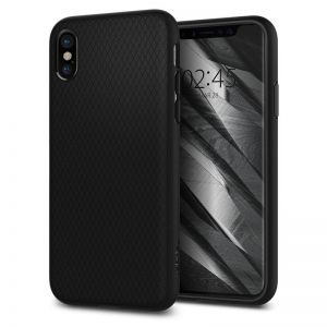 SPIGEN Liquid Air, black - pro APPLE iPhone X
