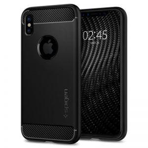 SPIGEN Rugged ARMOR, black - pro APPLE iPhone X