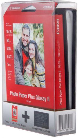 CANON fotopapír - PHOTO PAPER PLUS PP-201 4X6 50 + PHOTO ALBUM