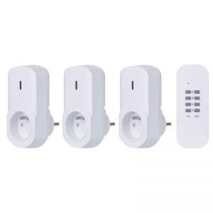 Emos P0065 - bezdrátově ovládané zásuvky, 3 zásuvky + 1 ovladač