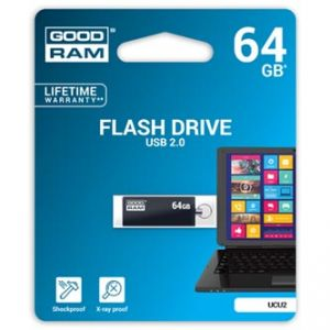 GOODRAM USB flash disk, 2.0, 64GB, UCU2, černý, UCU2-0640K0R11