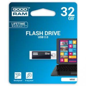 GOODRAM USB flash disk, 2.0, 32GB, UCU2, černý, UCU2-0320K0R11