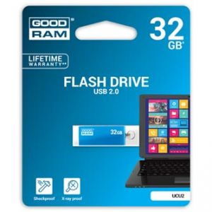 GOODRAM USB flash disk, 2.0, 32GB, UCU2, modrý, UCU2-0320B0R11