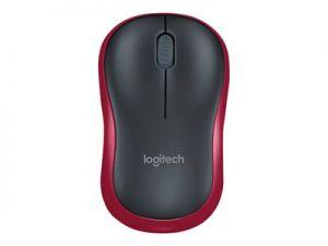 LOGITECH M185 - Myš - optický - bezdrátový - 2.4 GHz - bezdrátový přijímač USB - červená