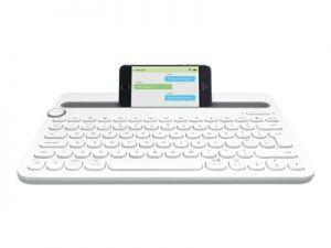 LOGITECH Multi-Device K480 - Klávesnice - Bluetooth - USA mezinárodní - bílá