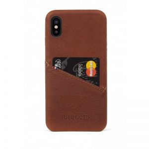 DECODED Leather Case, brown - pro APPLE iPhone X