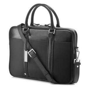 """HP 14"""" Spectre Slim Topload - HP Taška na notebook černá z kůže/nylonu"""