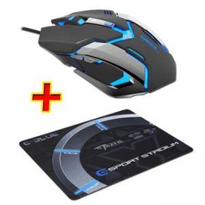 E-Blue Myš Auroza Gaming, optická, 6tl., 1 kolečko, drátová (USB), černá, 4000DPI, herní,
