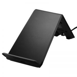 SPIGEN Essential F303W bezdrátová nabíječka - černá - 2v1 ala stojánek