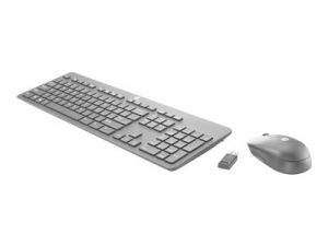 HP Slim - Klávesnice a sada myši - bezdrátový - 2.4 GHz - Německo - pro Chromebook x360; E