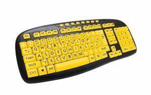 C-TECH KB-103MS CZ/SK USB multimediální klávesnice, (velká písmena vhodné Pro seniory)
