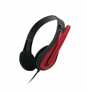 C-TECH Sluchátka MHS-01, černo-červená