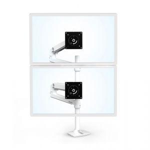 "ERGOTRON LX Dual Stacking Arm, Tall Pole, stolní ramena pro 2 lcd. max. 40"", flexibilní ,"