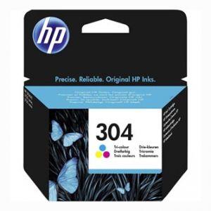 HP originální ink N9K05AE, HP 304, Tri-color, 100str., HP HP DeskJet 3720, HP DeskJet3730