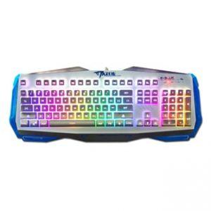 E-BLUE Klávesnice EKM745, herní, stříbrná, drátová (USB), US, podsvícené okraje