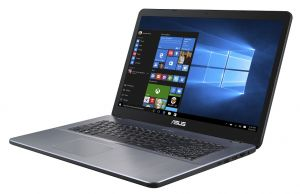"ASUS X705UA-BX022T i3-7100U/4GB/1TB/Graphics Share/17,3"" HD+ matný/BT/W10 Home/Gery"